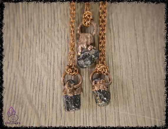 tibetan moldavite tektite pendant 5a5d289c - Tibetan Moldavite Tektite - Copper Electroformed Pendant