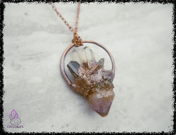 amethyst spirit quartz tourmaline crystal pendant 5ad67b68 - AMETHYST SPIRIT QUARTZ + Tourmaline Crystal Pendant