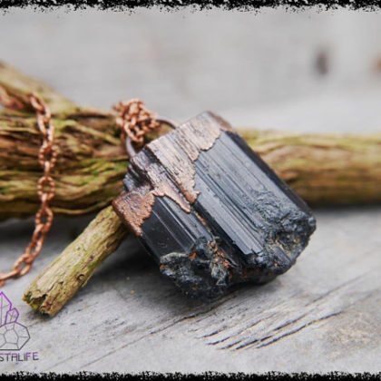 black tourmaline crystal pendant 5af8c5cf 420x420 - The Curious, Curing Power of Copper Jewellery