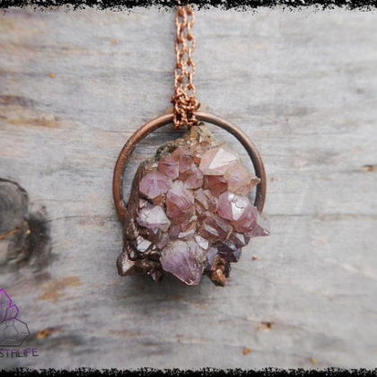 amethyst druzy crystal pendant 5b18f8c4 420x420 - Handmade Crystal Jewelry for the Soul. Feed your Gemstone Obsession.