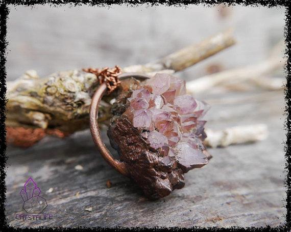 amethyst druzy crystal pendant 5b18f8f5 - AMETHYST DRUZY Crystal Pendant