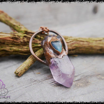 amethyst labradorite crystal pendant 5b18fe78 420x420 - Handmade Crystal Jewelry for the Soul. Feed your Gemstone Obsession.