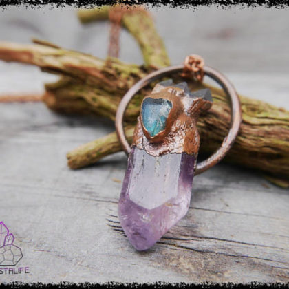 amethyst labradorite crystal pendant 5b18fe8a 420x420 - Handmade Crystal Jewelry for the Soul. Feed your Gemstone Obsession.