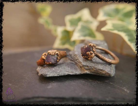 raw amethyst gemstone ring 5b18e623 - RAW AMETHYST GEMSTONE Ring
