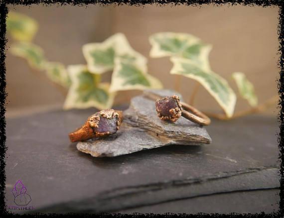 raw amethyst gemstone ring 5b18e657 - RAW AMETHYST GEMSTONE Ring