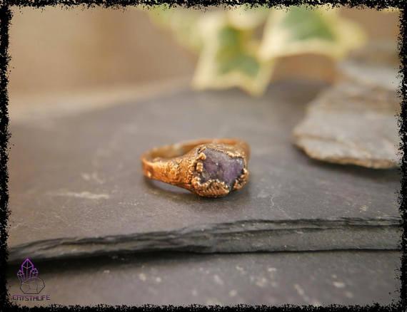 raw amethyst gemstone ring 5b18e67d - RAW AMETHYST GEMSTONE Ring