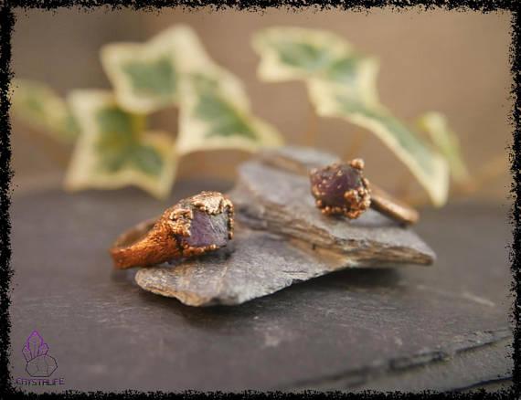 raw amethyst gemstone ring 5b18e68c - RAW AMETHYST GEMSTONE Ring