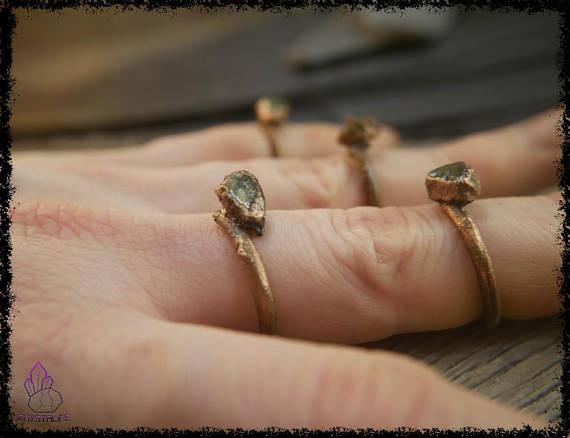 raw peridot crystal ring 5b18e732 - RAW PERIDOT CRYSTAL Ring