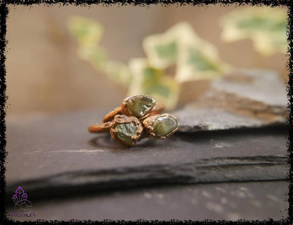raw peridot crystal ring 5b18e753 - RAW PERIDOT CRYSTAL Ring