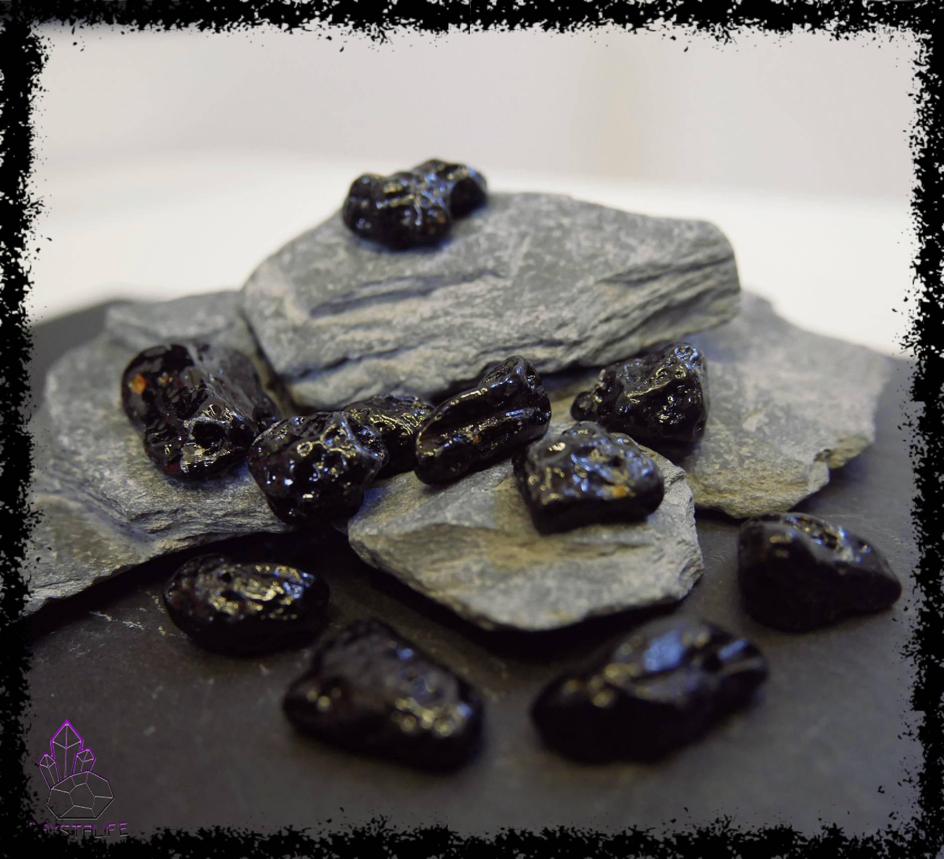 TIBETAN MOLDAVITE TEKTITE Tumblestones   Beads
