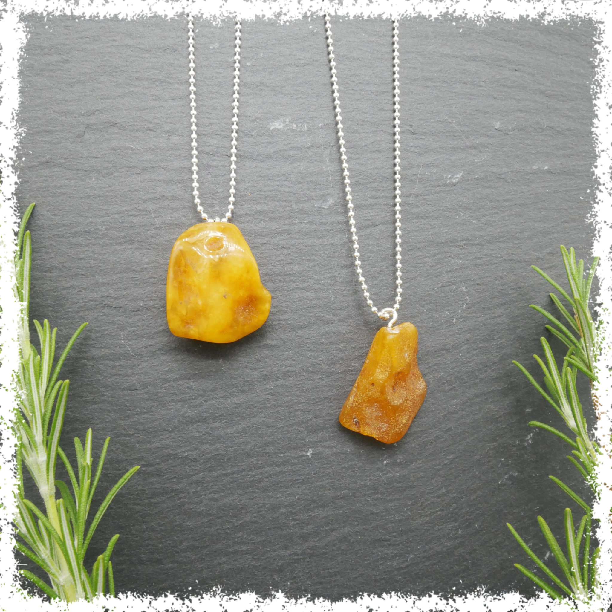 Baltic amber jewelry on silver